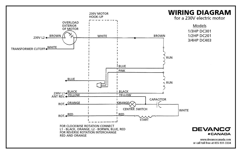 27024 Doorlec Electric Motor Tefc 34hp 115230v Dc403